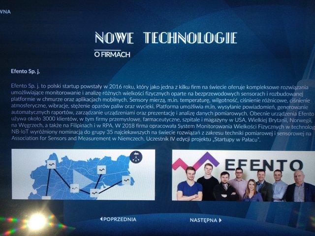Prezentacja Efento na Polskiej Wystawie Gospodarczej