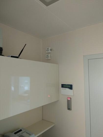 Pomiar temperatury, wilgotności i ciśnienia różnicowego - clean room